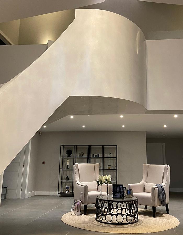 Venetian plastering staircase