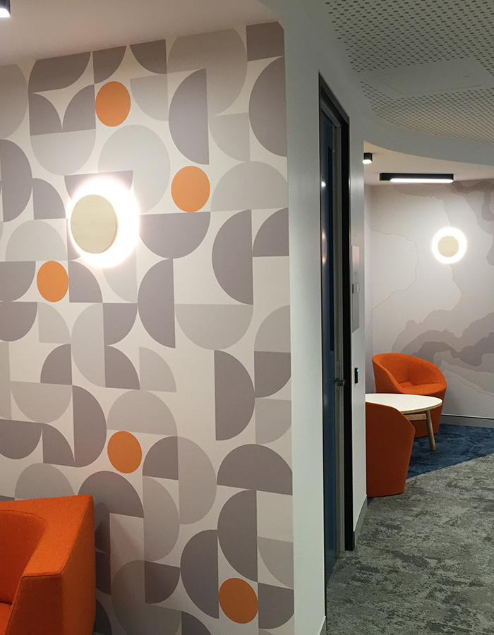 Wallpapering office